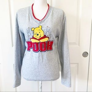 Disney Winnie The Pooh Gray Sweater Size L